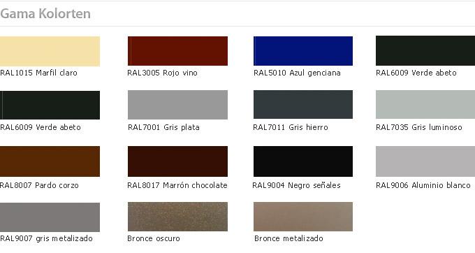 Recar ventanas gama de colores para ventanas - Distribuidores kommerling ...